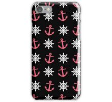 Anchor & Wheel Pattern iPhone Case/Skin