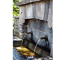 Spring Water At Rila Monastery Photographic Print