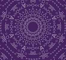 Monogram pattern (A) in Acai by janna barrett