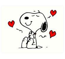 Snoopy In Love Art Print