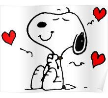 Snoopy In Love Poster
