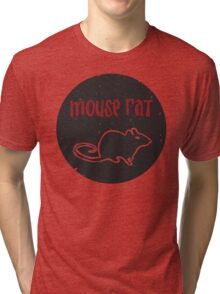 Mouse Rat T-Shirt | Parks and Recreation Leslie Knope Ron Swanson Bert Macklin FBI Parks n Rec Pawnee Indiana TV Show Tshirt Tee uk usa gift Tri-blend T-Shirt