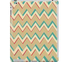 Pink Blue Tan Unique Chevron Pattern iPad Case/Skin