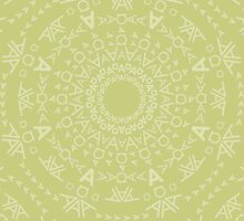Monogram pattern (A) in Lichen by janna barrett