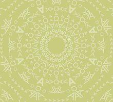 Monogram pattern (A) in Lichen by janna barrett