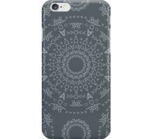Monogram pattern (A) in Turbulence iPhone Case/Skin