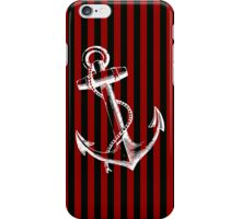 Vintage Anchor Black Red Stripes iPhone Case/Skin