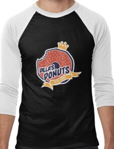 Dilla's Donut Men's Baseball ¾ T-Shirt