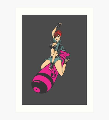 Atom Bomb Baby Pinup  Art Print