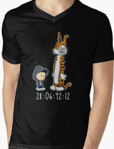 Darko & Hobbes Mens V-Neck T-Shirt