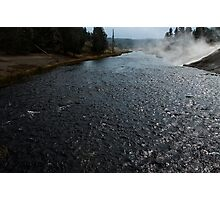 Firehole river at Midway Geyser Basin ~ Yellowstone National Park Photographic Print