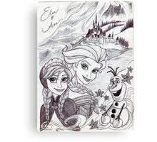 Monochrome Princesses A and E Canvas Print
