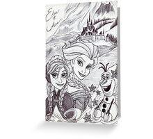 Monochrome Princesses A and E Greeting Card