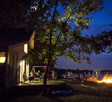 By the Light of the Season's First Campfire by Mikell Herrick
