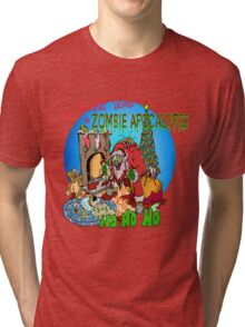 Twas the Night before.....Zombie Christmas Tri-blend T-Shirt