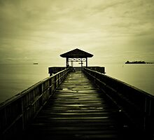 Tanjung Harapan Dock Path of Sangatta East Kutai East Borneo Indonesia by PutroGraph