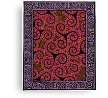 Spirals x3 Canvas Print