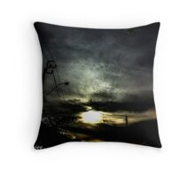 I shoot when I bored..If we open a quarrel between past and present, we shall find that we have lost the future. Throw Pillow