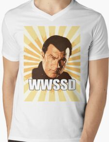 WWSSD T Shirt Mens V-Neck T-Shirt