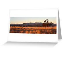 Nandewaa Range from Maules Creek Road Greeting Card