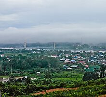 Village landscape  of Kutai Kartanegara East Borneo - Legendary Tenggarong Kartanegara Bridge by PutroGraph