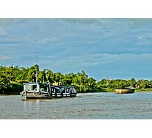Indonesian traditional boat for sand at Mahakam River Melak West Kutai East Borneo Photographic Print