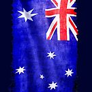 Australian, Aussie Flag, Downunder Patriotic Flag by Val  Brackenridge