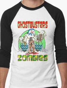 Zombie Ghostbusters Men's Baseball ¾ T-Shirt
