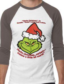 the Grinch Men's Baseball ¾ T-Shirt