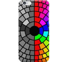 Rainbow circle color and grayscale pattern iPhone Case/Skin