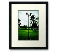 lamp ornament of legendary Kartanegara Bridge of Kutai Kartanegara East Borneo - collapsed 2010 Framed Print