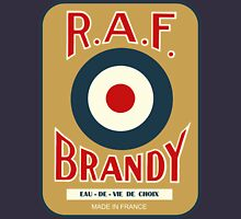 vintage R.A.F. Brandy French liquor bottle label modern remake T-Shirt