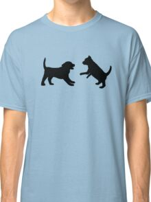Puppies Playing Classic T-Shirt