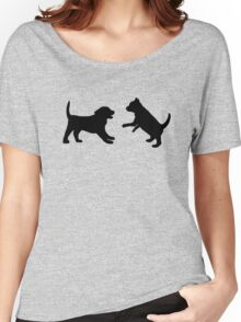 Puppies Playing Women's Relaxed Fit T-Shirt