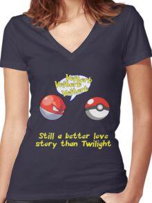 Voltorb Joke  (Pokemon Parody) Women's Fitted V-Neck T-Shirt