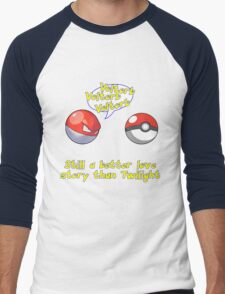 Voltorb Joke  (Pokemon Parody) Men's Baseball ¾ T-Shirt