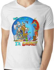 Don't Bother Me I'm Playing Video Games Mens V-Neck T-Shirt