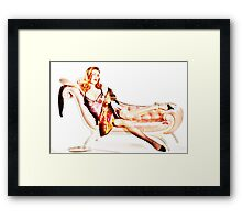 The lady needs serving Framed Print