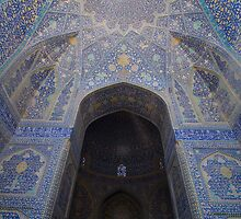 Imam Mosque Portal, Esfahan, Iran by Jane McDougall