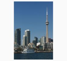 Up Close And Personal - Toronto's Skyline From The Harbour One Piece - Short Sleeve