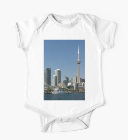 Up Close And Personal - Torontos Skyline From The Harbour One Piece - Short Sleeve