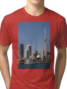 Up Close And Personal - Toronto's Skyline From The Harbour Tri-blend T-Shirt