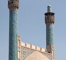 Minarets, Back of Portal Arch, Imam Mosque, Esfahan, Iran by Jane McDougall