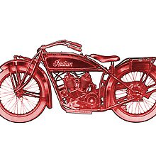 Vintage Indian Scout Motorcycle Print by astralsid