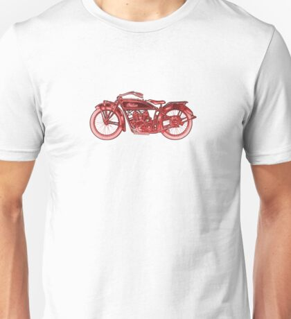 Vintage Indian Scout Motorcycle Print Unisex T-Shirt