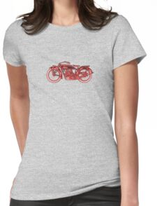 Vintage Indian Scout Motorcycle Print Womens Fitted T-Shirt