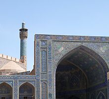 Emam Mosque from Naqsh-e Jahan Square, Esfahan, Iran by Jane McDougall