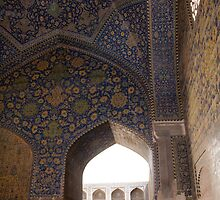 Looking through the arched window, Imam Mosque, Esfahan, Iran by Jane McDougall