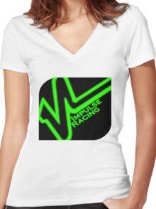 Impulse Racing Logo Women's Fitted V-Neck T-Shirt