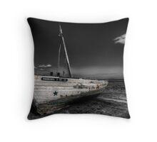 Tuna Fishing Boat Throw Pillow